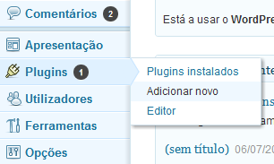 Adicionar novo plugins wordpress
