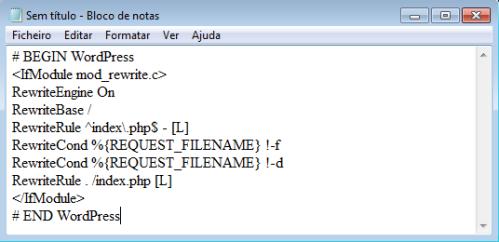 Como criar arquivo .htaccess - 2
