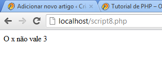 Comando if else no php