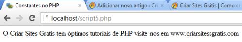 Constantes no PHP