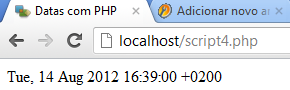 Data completa em PHP