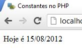Data numa constante no php