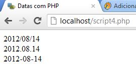 Datas com php