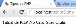 PHP nao deu quebra de linha
