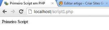 Primeiro script em PHP