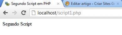 Segundo script em PHP