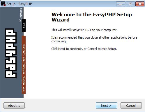 Instalação do EasyPHP - 3