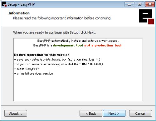 Instalação do EasyPHP - 5