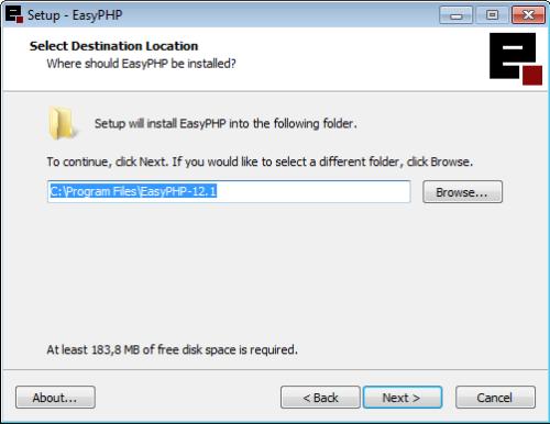 Instalação do EasyPHP - 6