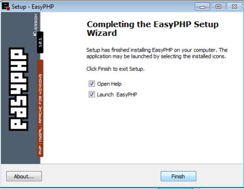 Instalação do EasyPHP - 9